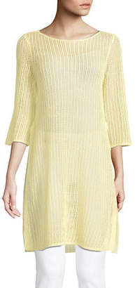 Eileen Fisher Boat-Neck Linen Tunic