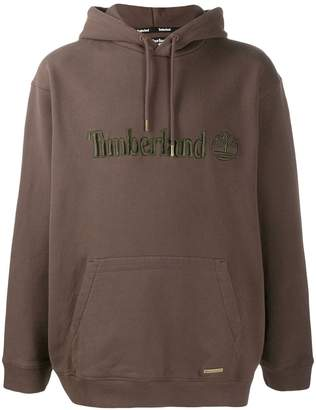 Timberland logo embroidered hoodie