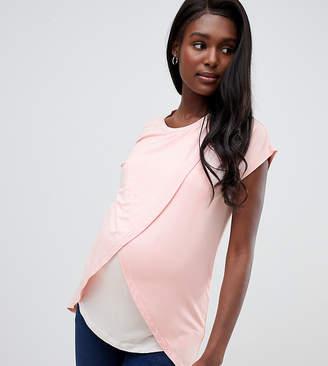Asos Nursing DESIGN Maternity nursing t-shirt with wrap overlay