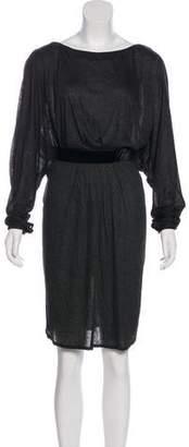 Stella McCartney Velvet-Trimmed Dolman Dress