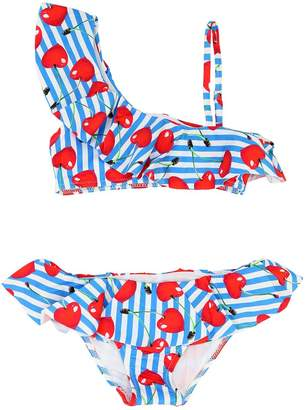 MC2 Saint Barth Cherry Stripes Print Lycra Bikini