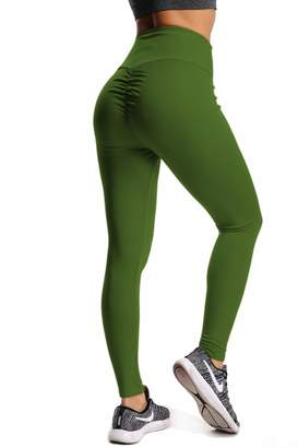 14a1426e5c25c5 CROSS1946 Women's High Waist Back Ruched Legging Butt Lift Yoga Pants S