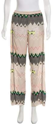 Timo Weiland Printed Wide-Leg Pants