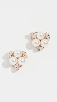 Anton Heunis Glass Pearl Cluster Earrings