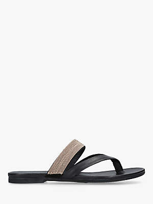 41262e415 at John Lewis and Partners · Kurt Geiger London Mae Leather Toe Thong  Sandals
