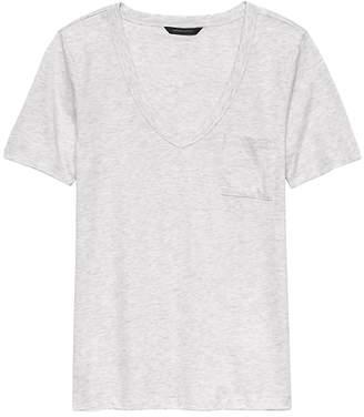 Banana Republic SUPIMA® Cotton Pocket V-Neck T-Shirt