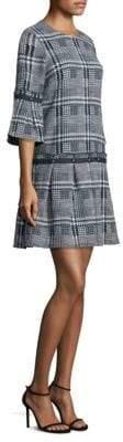 Roland Box Pleated Midi Dress