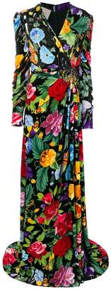 Gucci Floral evening gown