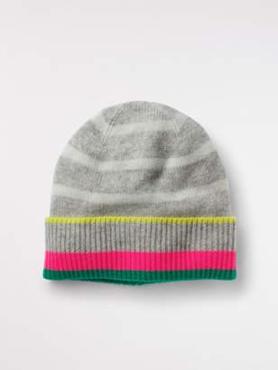 White Stuff Cashmere Stripe Beanie Hat