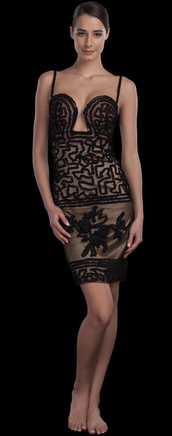 La Perla Jean Paul Gaultier Rubans Deep Plunge Dress