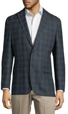 Jack Victor Windowpane Wool Jacket
