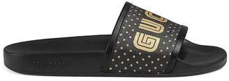 Gucci Women's Canvas Slide Sandals