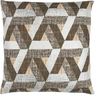 Rizzy Home Geometric Textured Printed Embroidered II Throw Pillow
