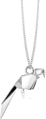 Nuovegioie Origami Sterling Silver Parrot Pendant Necklace