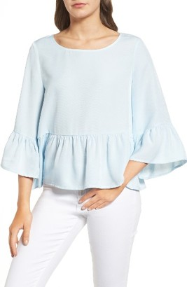Women's Chelsea28 Ruffle Sleeve Blouse $69 thestylecure.com
