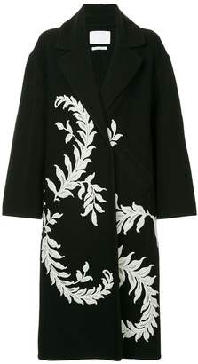 Oscar de la Renta lace embroidered coat