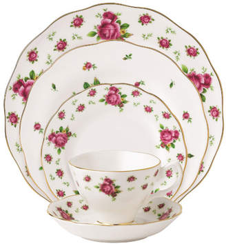 Royal Albert New Country Roses Vintage formal Bone China 5 Piece Place Setting, Service for 1