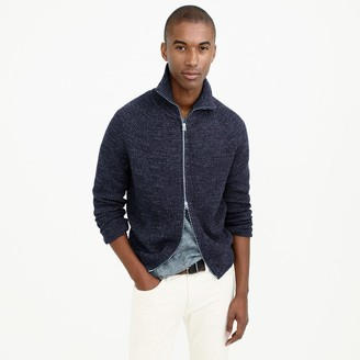 Full-zip funnelneck sweater $98 thestylecure.com