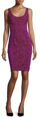 Diane von Furstenberg Geovana Lace Sleeveless Sheath Dress, Purple Amethyst/Red Onyx $398 thestylecure.com