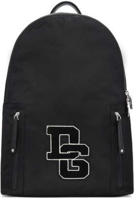 Dolce & Gabbana Black Patch Backpack