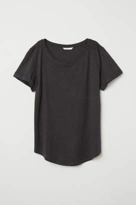 H&M Slub Jersey T-shirt - Gray