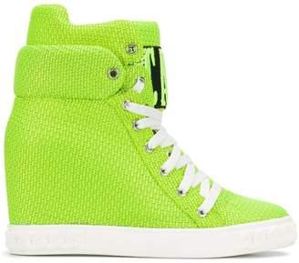 Casadei Logomania wedge sneakers