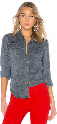 Pam & Gela Printed Camo Shirt