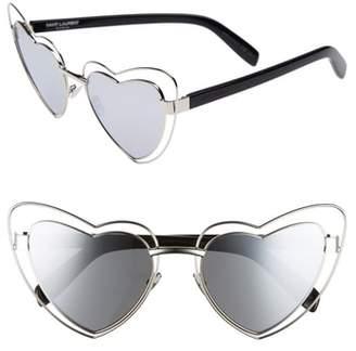 Saint Laurent SL197 LouLou 57mm Heart Shaped Sunglasses