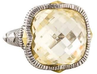 Judith Ripka Canary Crystal Ring silver Canary Crystal Ring