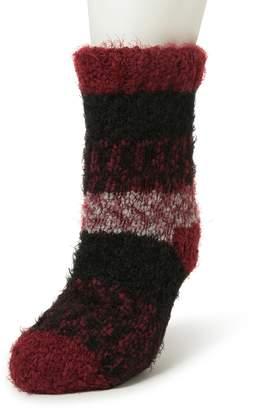 Dearfoams Women's Eyelash Knit Flurry Slipper Socks