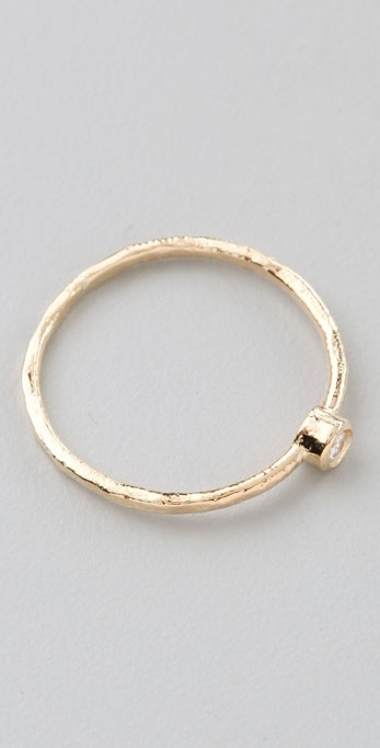 Jacquie Aiche Waif Small Bezel Ring