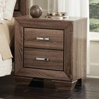 Coaster Company Kauffman Collection Nightstand, Washed Taupe