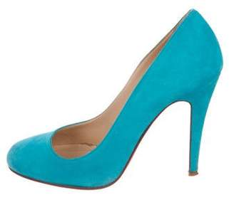 Christian Louboutin Ron Ron Suede Pumps