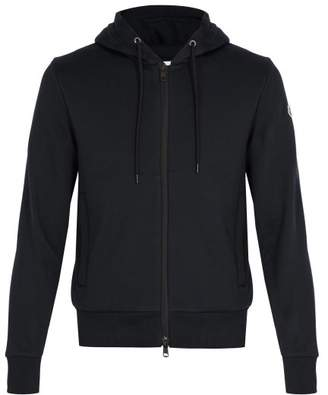 Moncler Hooded Cotton Sweatshirt - Mens - Navy