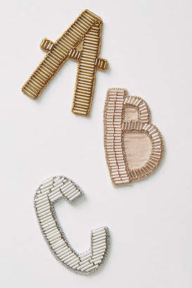 Anthropologie Metallic Monogram Sticker Patch
