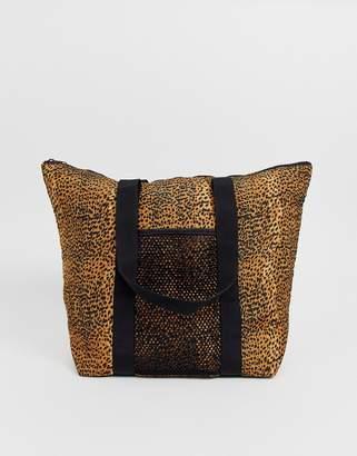 InWear James leopard print tote bag