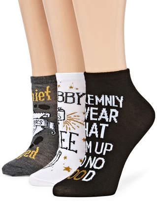 Asstd National Brand Womens 3 Pk Novelty Low Cut Sock