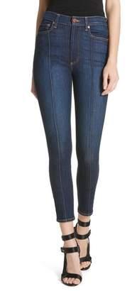 Alice + Olivia AO.LA by AO.LA Good High Waist Pintuck Skinny Jeans