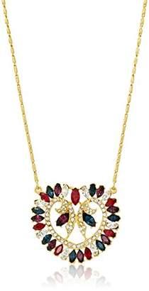 Swarovski Ben-Amun Jewelry Maharaji Crystal Deco Pendant Gold Necklace