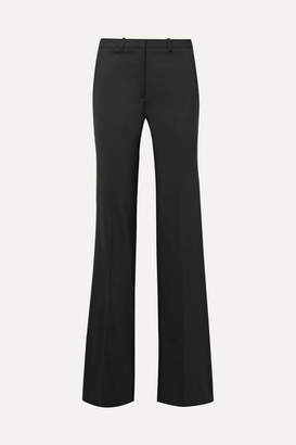 Theory Demitria Stretch-wool Flared Pants - Black