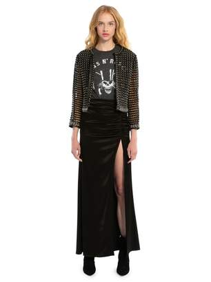 Alice + Olivia Diana Ruched Maxi Skirt