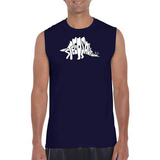 LOS ANGELES POP ART Los Angeles Pop Art Men's Stegosaurus Sleeveless T-Shirt - Big and Tall