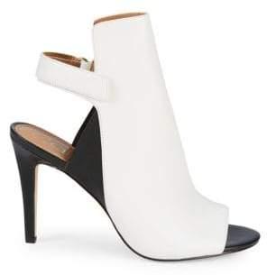 Calvin Klein Sandria Leather High-Heel Slingback Sandals