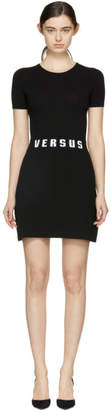 Versus Black Bodycon Logo Dress