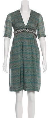 Paul & Joe Printed Knee-Length Dress