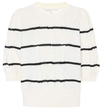 Veronica Beard Moss striped cotton sweater