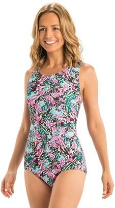 ae8c6508eb Dolfin Aquashape Print Conservative Lap Swimsuit