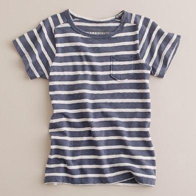 Boys' nautical-stripe pocket tee