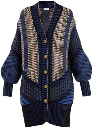 Peter Pilotto Striped cotton-blend cardigan