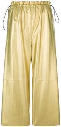 MM6 MAISON MARGIELA metallic cropped trousers